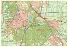 Postcard Netherlands ( MAP ) Provincie zuid Holland Hilversum