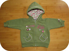 babyGap Reverse Fleece Embroidered Hoodie 3-6 mos. Green 100% Cotton Thermal