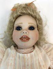 "Vintage 1990 Virginia E Turner Jeannie 20"" Porcelain Limited Edition Baby Doll"