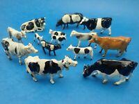 Vintage Bundle of LEAD COWS Metal Animals Britains John Hill etc