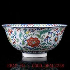 Chinese Famille Rose Porcelain Hand-painted Bowl W Qing Dynasty Qianlong Mark
