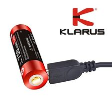 New Klarus 14500UR75 14500 750mAh 3.7V USB Protected Rechargeable Battery Cell
