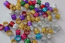 120Hair Dreadlocks Bead Cuff Clip.Hair Decoration Filigree Tube Mixed Color 10mm