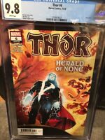 Thor #6 CGC 9.8 Marvel Donny Cates Black Winter Thor's Death scene