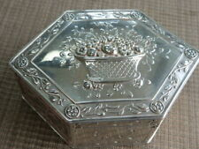 Antique German Hanau Floral Musical 800 Silver Box  (58292)