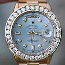 Rolex 36mm President Day-Date 18238 Mens 18K Yellow Gold Oversized 6ct. Diamond