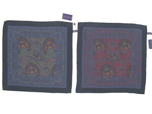 NEW Ralph Lauren Purple Label Silk Pocket Square!  *Made in Italy*   *2 Colors*