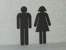 Restroom Signs Man & Ladies Figures Set