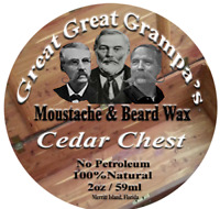 WHITE  Moustache & Beard Wax - CEDAR scent - Mild, Medium or Extreme Hold
