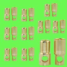 ► 20 Stück (10 Paar) 6mm Goldstecker Goldkontaktstecker Lipo Akku LRP Graupner