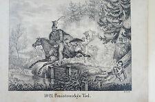 Druck Buchseite Poniatowskys Tod unsigniert (N101)