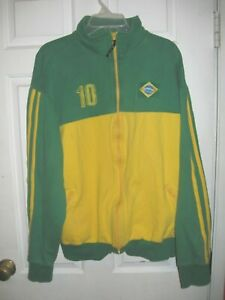 Brazilian Soccer Classic Green & Yellow #10 Medium Jacket