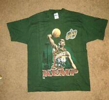 Vintage 1990s Shawn Kemp Seattle Supersonics Single Stitch T Shirt XL New!