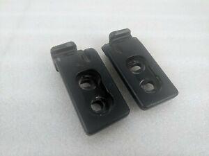 90-05 Mazda Miata OEM NA NB Side Hard Top Striker Plates Pair Latch B Pillar