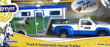 Breyer Collectable Horses SM Blue & White Gooseneck Trailer & Truck