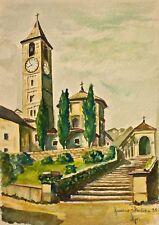 Hornberger - Baveno, Italien - Aquarell - 1955