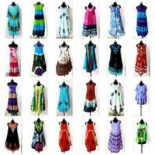 ASSORTED 50PC LOT Indian Multi Casual Summer Dress Tie Dye Beach Wear Sundress