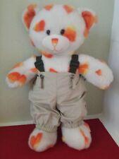 Build A Bear White Candy Corn Teddy Plush Stuffed Animal W/Clothes BABW