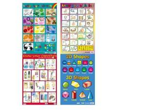 Colours / Alphabet / Opposites / Shapes   /  A2 - set of 4 Posters
