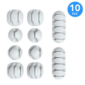 10x Cable Holder Cable Clips Self Adhesive Clamps Cable Routing Mixed