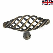 UK STOCK 1X Door Pull Handle Twist Cage Spiral Knob Vintage Antique For Cabinet