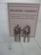 Nordstrom Melrose and Market Silver Circle Dangle Earrings NWT 45