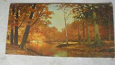 Cool Large Vintage Robert Wood Print on Cardboard Autumn Bronze LOOK