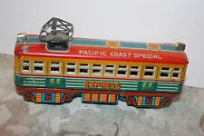 NICE VINTAGE TIN FRICTION OPERATED PACIFIC COAST SPECIAL TRAIN  CAR