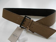 BNWT ABACO PARIS LADIES LUXURY LEATHER BELT MADE IN FRANCE SMALL