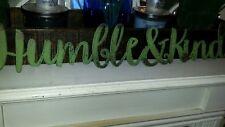 Humble & Kind Metal Word Sign Distressed Primitive Farmhouse Decor Industrial