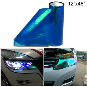 "12""x48"" Galaxy Chameleon Dark Blue Headlight Taillight Fog Light Vinyl Tint Film"
