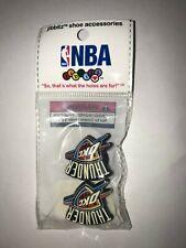 NIP Jibbitz Shoe Accessories NBA Basketball Oklahoma City Thunder Set of 2 Crocs