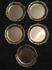 "Set Of 5 Coasters International Stainless Alesia Italy 4"" D"