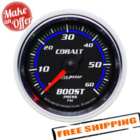 "Auto Meter 6105 Cobalt Mechanical Boost Press Gauge 2-1//16/"" Full Sweep 60 Psi"