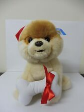 BOO THE WORLD'S CUTEST DOG WITH HOLIDAY HAT & BONE - 23cm PLUSH - BRAND NEW