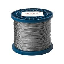 New listing Aleko Steel Cable 1/16 Inch 7X7 304 Stainless Aircraft Wire Rope 1000 Feet