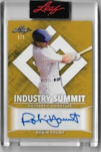 2021 Leaf Industry Summit ROBIN YOUNT Autograph #d 1/1 GOLD in box