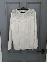 TU cream colour long sleeve blouse size UK 18