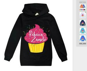 Rebecca Zamolo Cute Boy Kids Girl Long Cotton Sleeved Sweater Hooded Sweatshirt