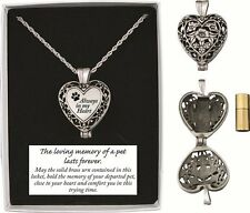Pet Dog Cat Memory Necklace Locket Brass Urn Gift Boxed New Free Shipping