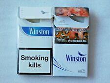 Empty Different Collector's Set Cigarette Packs WINSTON - 2 pcs. NO TOBACCO!
