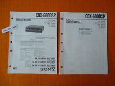 Service MANUAL Sony CDX 600 DSP Servizio ISTRUZIONI AUTORADIO CAR HIFI