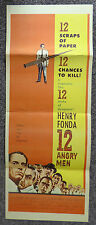 12 ANGRY MEN 1957 ORIGINAL INSERT MOVIE POSTER HENRY FONDA JACK KLUGMAN