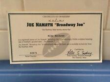 "Danbury Mint - New York Jets Joe Namath ""Broadway Joe"" C.O.A"