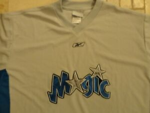 Gray Orlando Magic Sewn Reebok V Neck Shooting Warmup NBA Jersey 2XL Nice