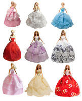 15 barbie Items 5 Fashion Handmade babie Dresses Gown + 10 Shoes for Barbie Doll