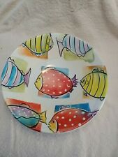 Antica Fornace Italy Serving Bowl Multi Colored Fish Motif 12.75� Large