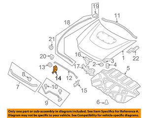 SUBARU OEM 02-07 Impreza Hood-Support Prop Rod Clip Clamp Holder 57255FE000