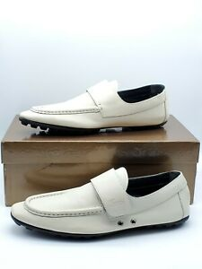 Gucci Men's White Leather loafer 9¹/2 US