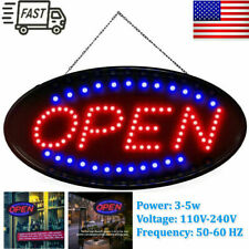 Ultra Bright Led Neon Light Animated Motion W/On/Off Open Business Sign Us Ship